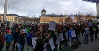 Bra oppmøte for March for Science i Trondheim