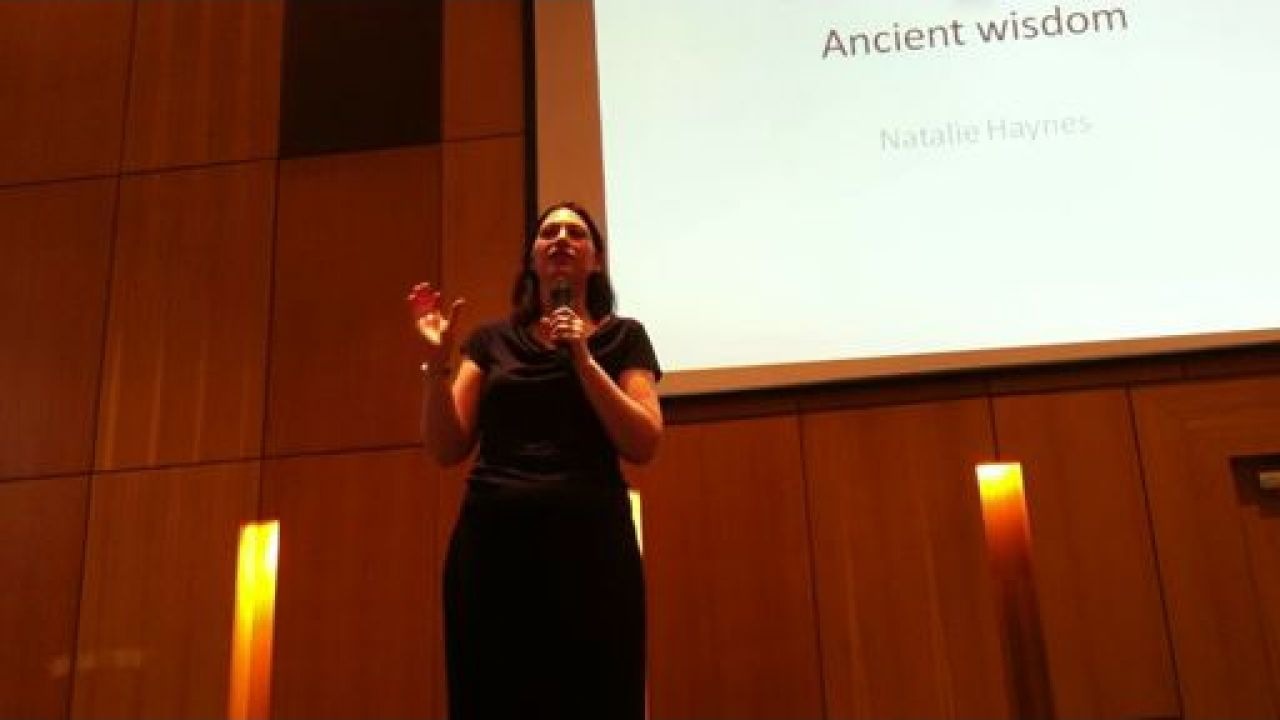 Natalie Haynes på landskonferansen til British Humanist Association